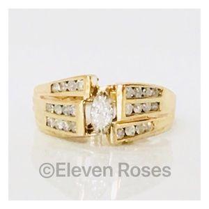 Jewelry - Custom 14k Gold Diamond Ring